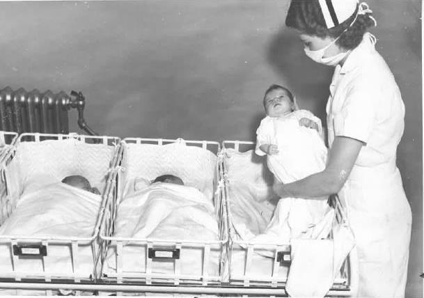 South County Hospital nursery circa late 1960s.
