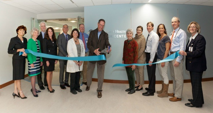 Cancer Center ribbon cutting.