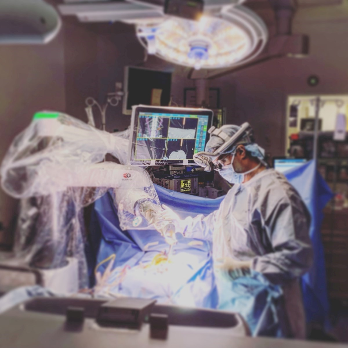 Dr. Ian Madom makes history with robotic-assisted spine surgery
