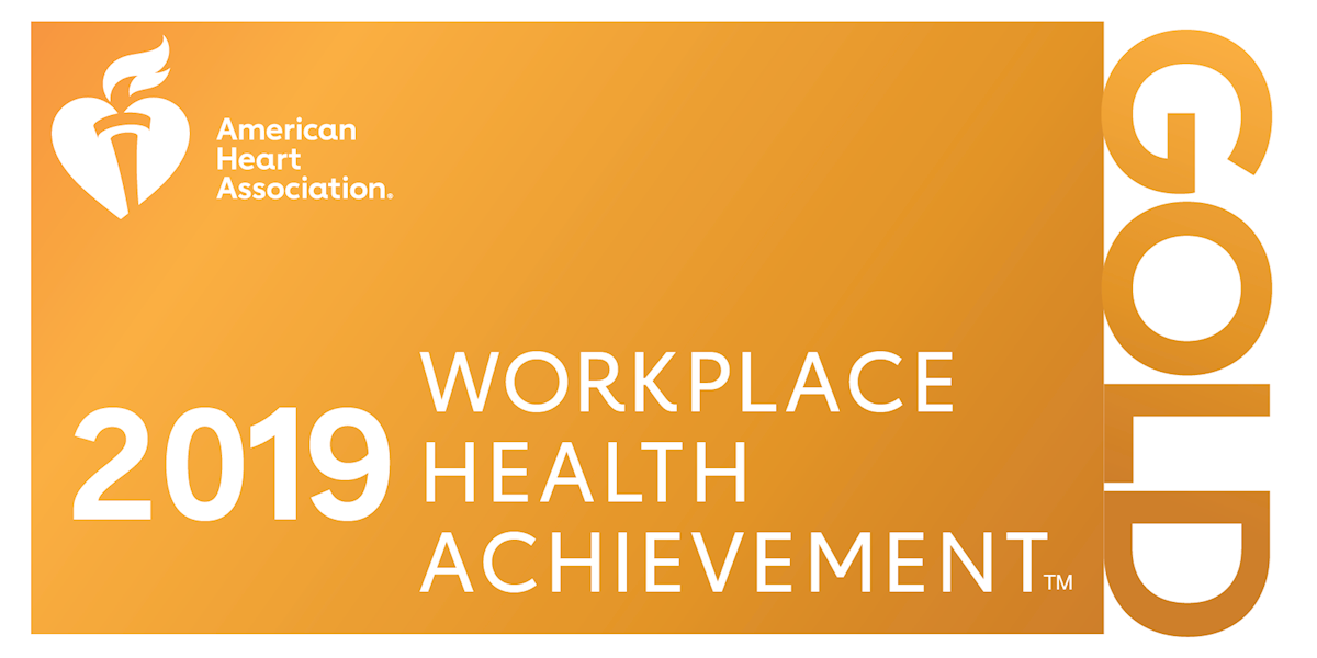 2019 Gold Level Health Impact Award for Workplace Health