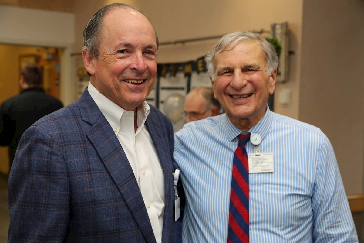 BOT chairman Dennis Lynch (l) with Lou Giancola