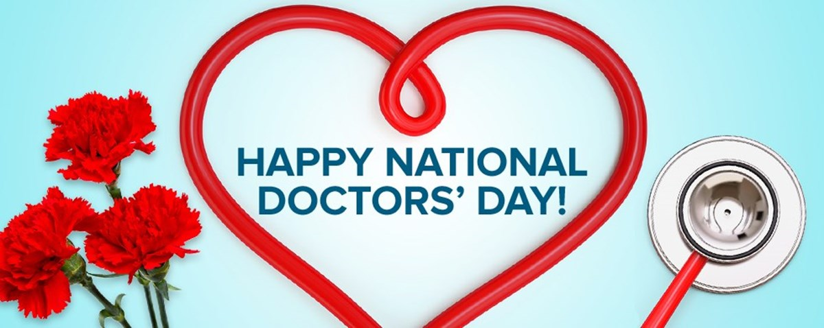 'Thank you!' March 30 is National Doctors' Day.