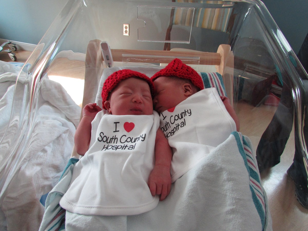 Twins born at South County Hospital