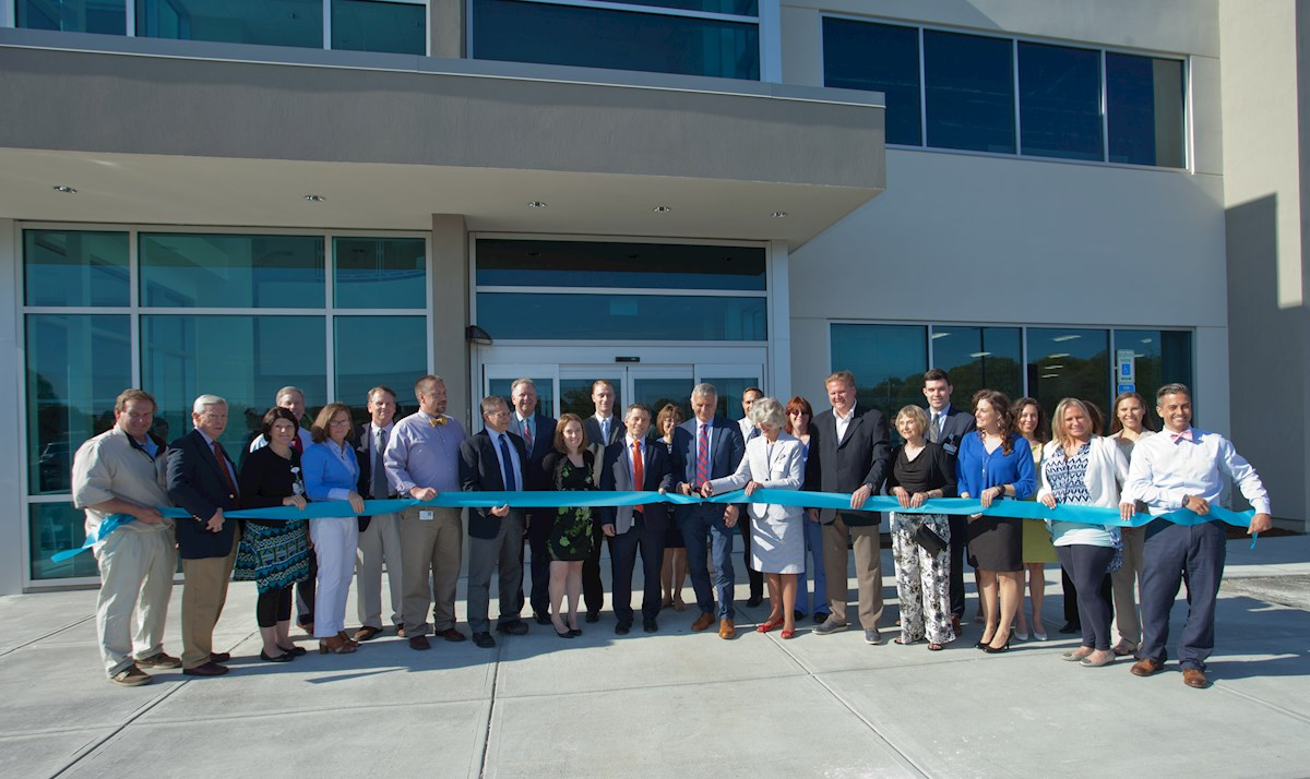 Ribbon cutting event at the opening of the Medical & Wellness Center in Westerly.